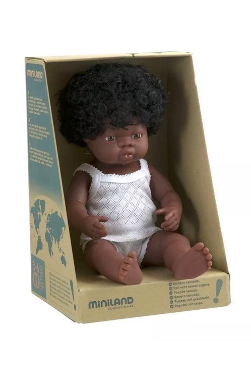 Miniland 38cm Toddler Doll - African Girl