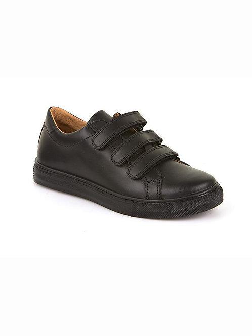 Froddo Triple Strap Leather School Shoes black