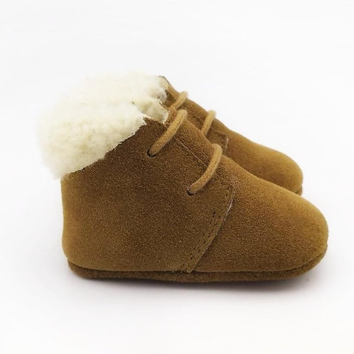 Wool Lined Suede Baby Boots Sass & Me