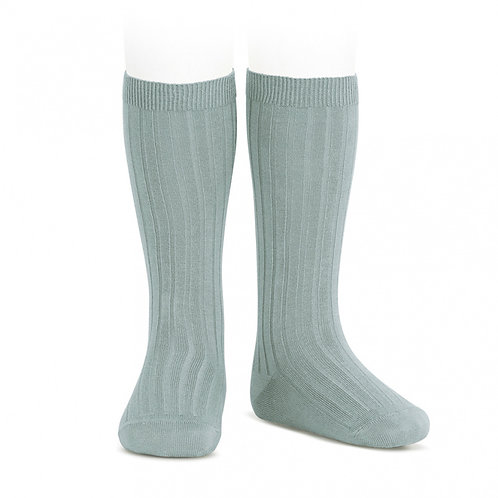Condor Ribbed Knee High Socks Dry Green