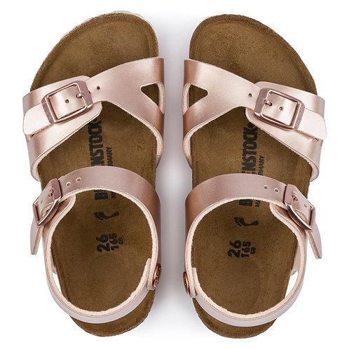 Birkenstock Rio Birko Flor Rose Gold sandals shoes