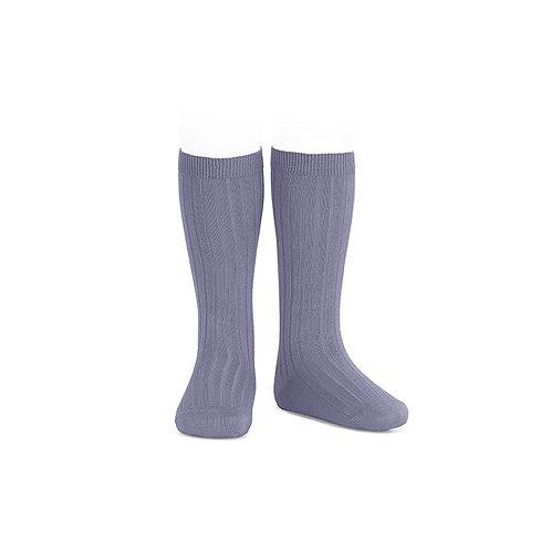 Condor Ribbed Knee High Socks - Lavendar