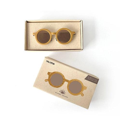 Kids Bay Sunnies by Mrs Ertha latte sustainable ladies round sunglasses
