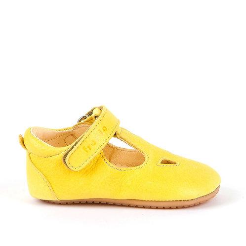 Froddo Soft Leather T-Bar Prewalkers - Yellow