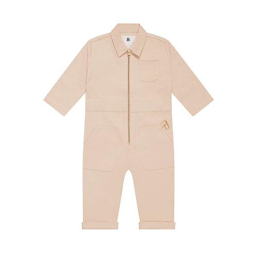 Boiler Suit in Cloud Kiso Apparel pink rose jumpsuit