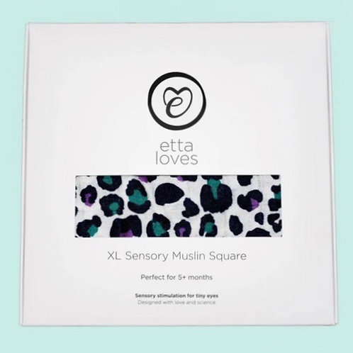 Etta Loves XL Sensory Muslin Leopard Print