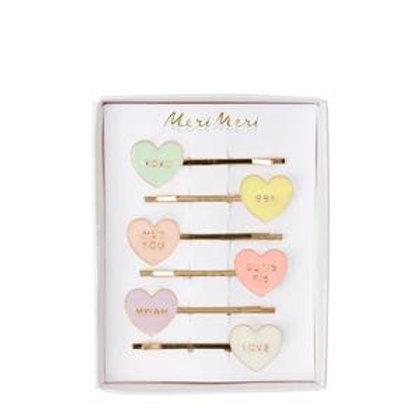 Meri Meri Heart Enamel Hair Pins