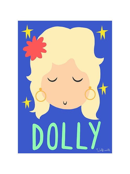 Dolly Wall Print by Wolfnoodle