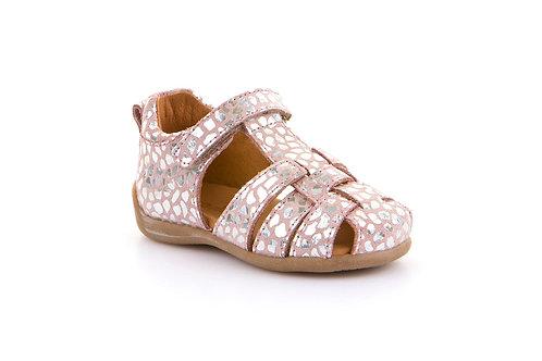 Froddo First Walker Fisherman Sandals - Pink/Silver Mosiac