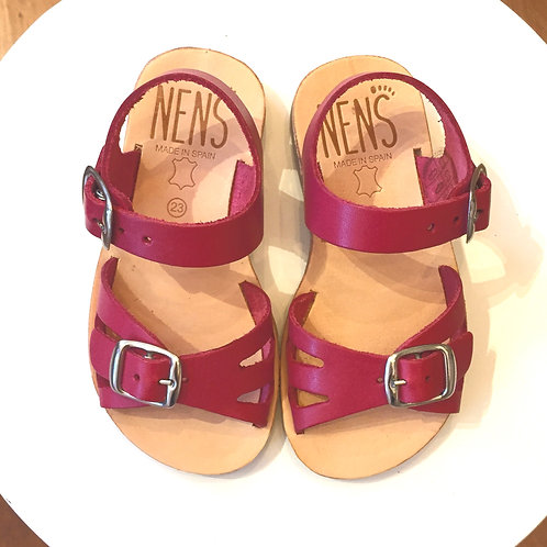 NENS Leather Buckled Sandals Pink shoes