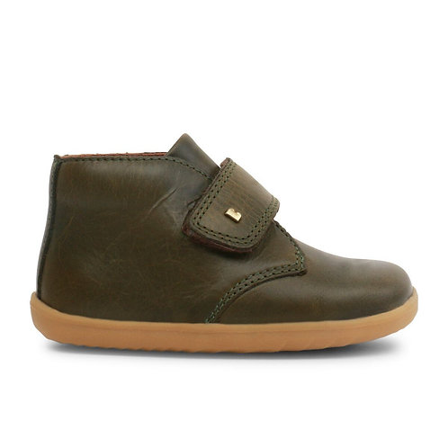 Bobux Step Up Desert Boot Olive green boots shoes