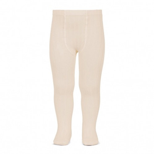Ribbed tights in Lino (Beige)  - Condor