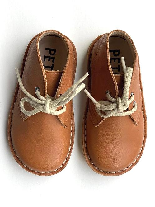 Petasil Koel Desert Boots Cognac Leather shoes