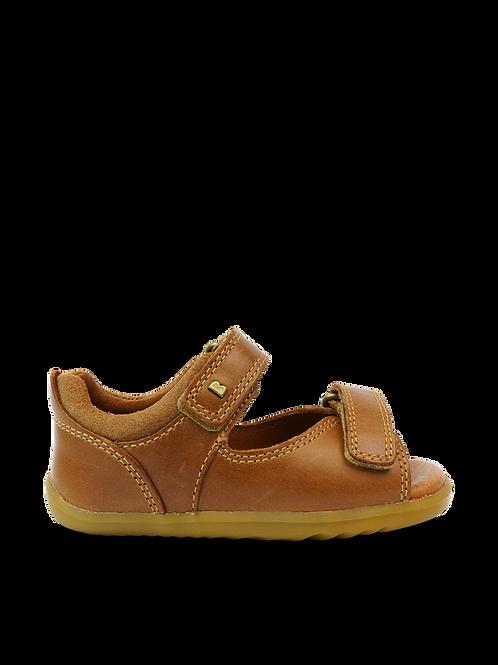 Bobux Step Up Driftwood Caramel tan first walker kids boys sandals
