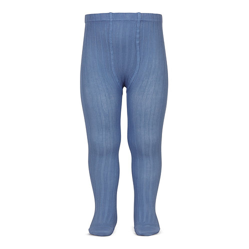Condor Wide Ribbed Tights - French Blue