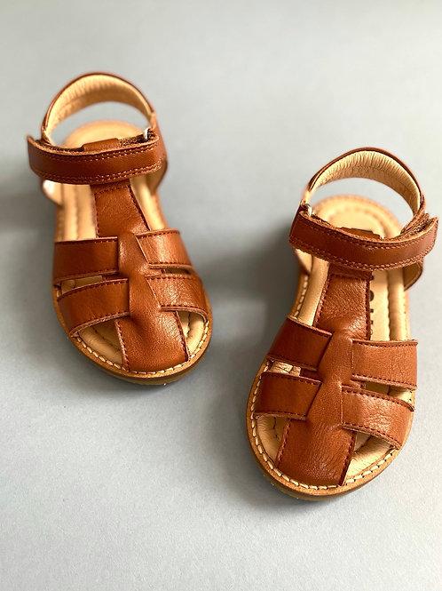 Petasil Fisherman Leather Sandals - Cognac