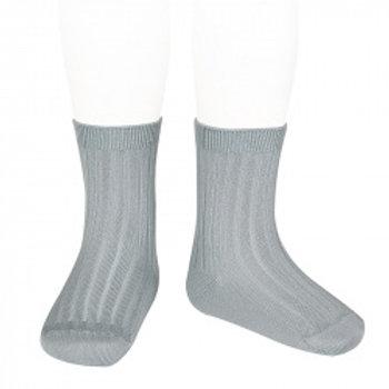 Condor Kids Ribbed Ankle Socks - Dry Green