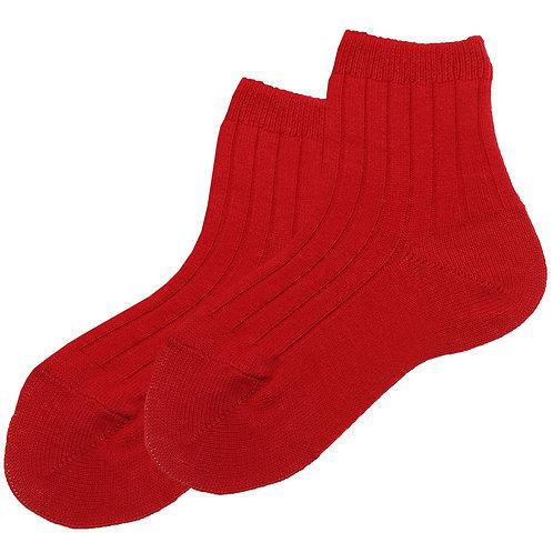 Condor Ribbed Ankle Socks - Red (Rojo)