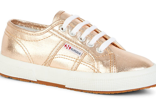 Superga Rose Gold Lace Up Cotmet Classic shoes trainers