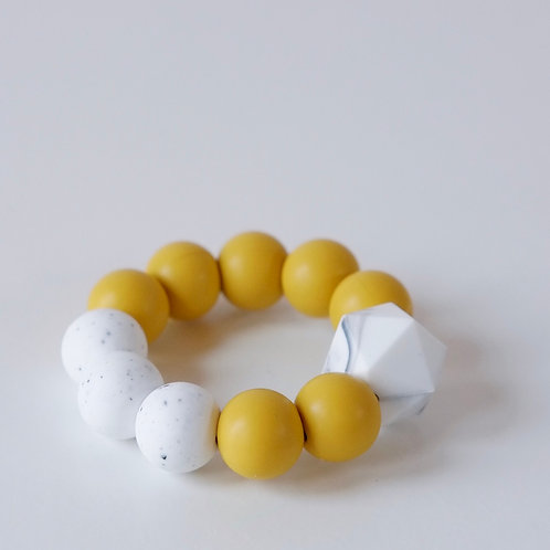 Baby Silicone Teething Toy Mustard - Blossom & Bear