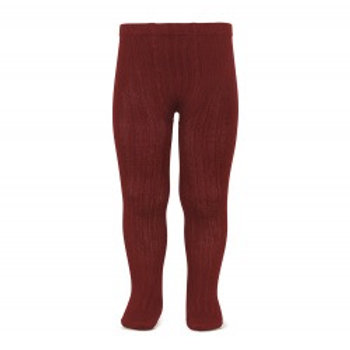 Condor Ribbed Tights Wine red