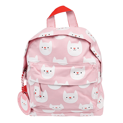 Mini Backpack - Pink Cats