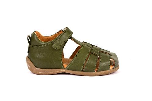 Froddo First Walker Toddler Fisherman Sandal Olive green leather shoes