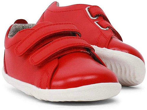 Bobux Step Up Grass Court First Walkers - Red