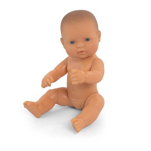 Miniland Caucasian Baby Girl Doll, 32cm