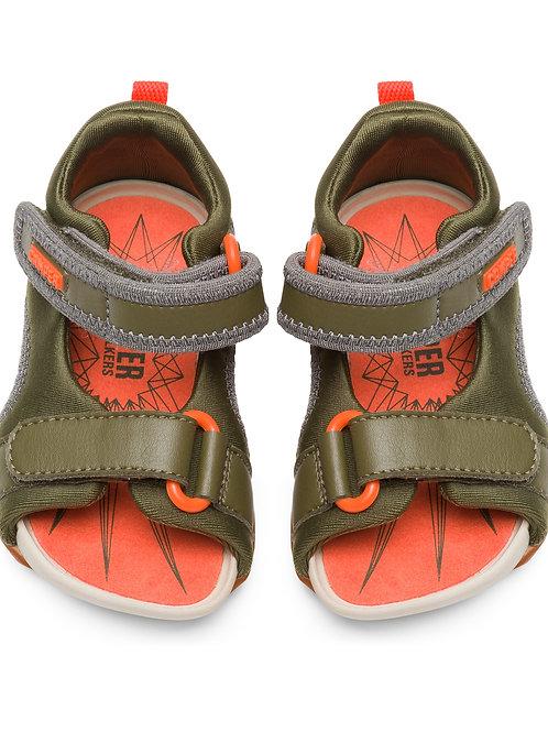 Camper First Walker Splash Sandals - Khaki Green