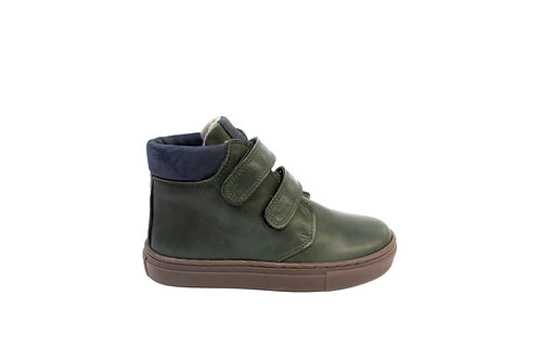 Green winter boots boys velcro Petasil