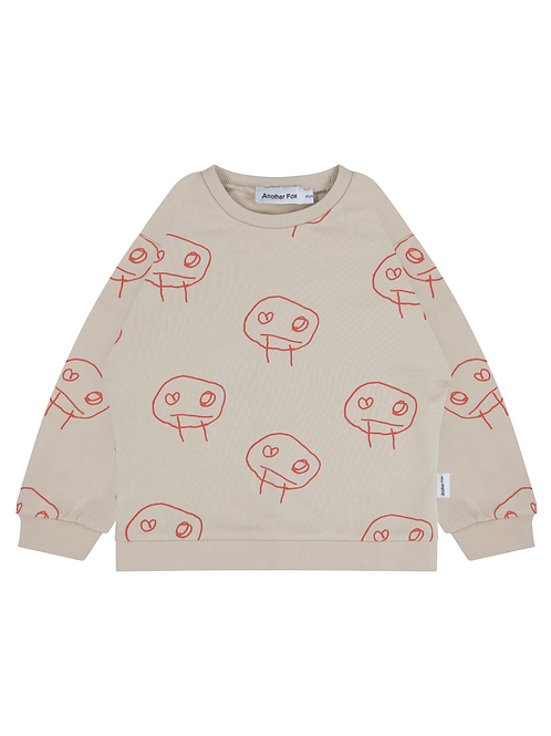 Freds Face Boxy Sweater - Another Fox