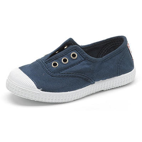 Cienta Laceless Pump Navy shoes trainers