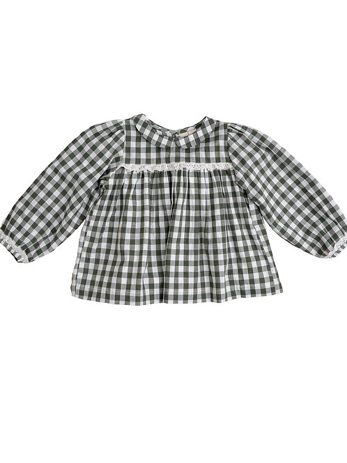 Emma Blouse, Green Gingham Little Cotton Clothes