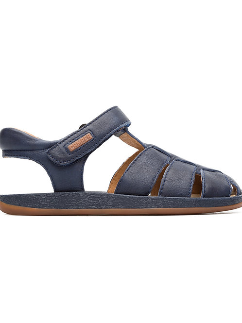 Camper Kids Navy Leather Closed Toe Sandals shoes