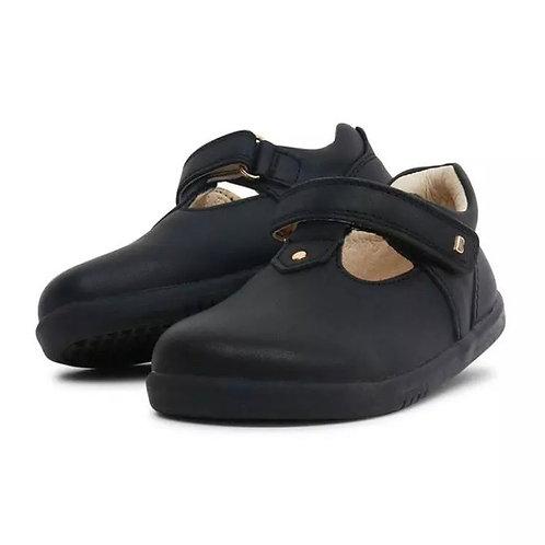 Bobux IWalk Louise T-Bar School Shoes - Black