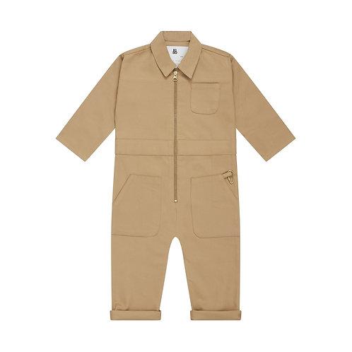 Boiler Suit in Mud Kiso Apparel beige jumpsuit