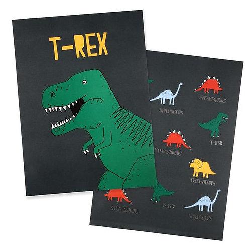 Meri Meri A3 Dinosaur Prints