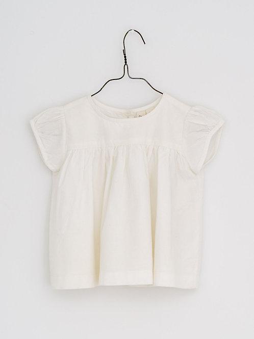 Ella Blouse in Ivory Cotton - Little Cotton Clothes