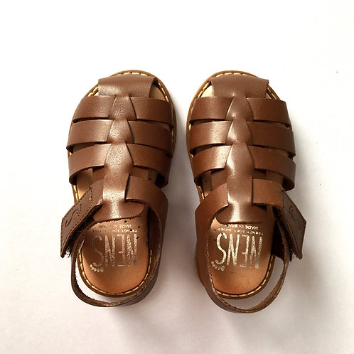Nens Leather Fisherman Sandals Brown