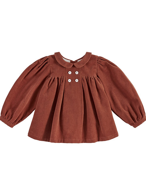 Josephine Blouse Clay Corduroy Little Cottons