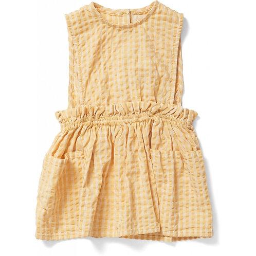 Konges Slojd Acacia Spencer Dress - Yellow Check