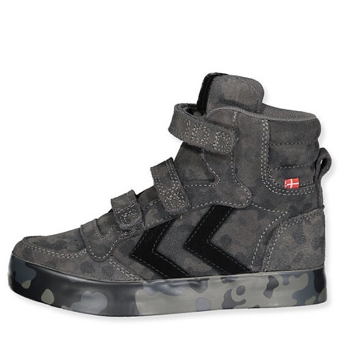 Hummel Stadil High Tops Camo Grey Black trainers shoes