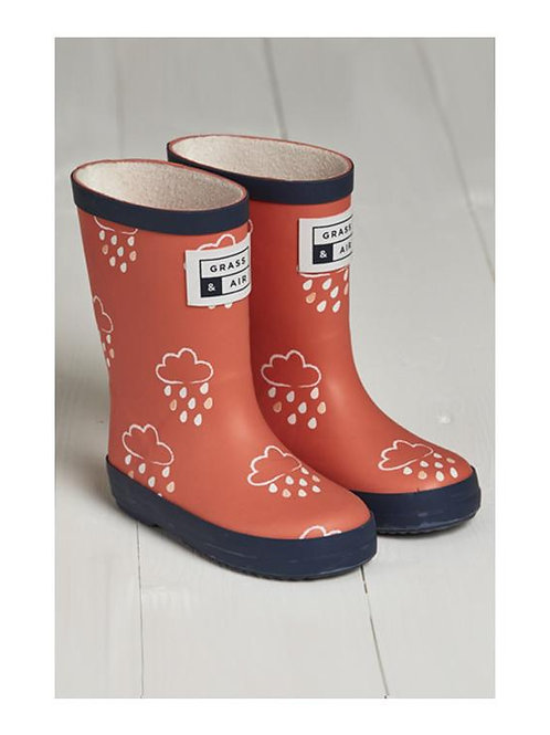Grass & Air Infant Wellies - Coral