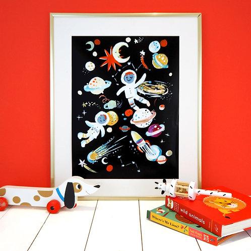Spaceman A4 Print Eleanor Bowmer