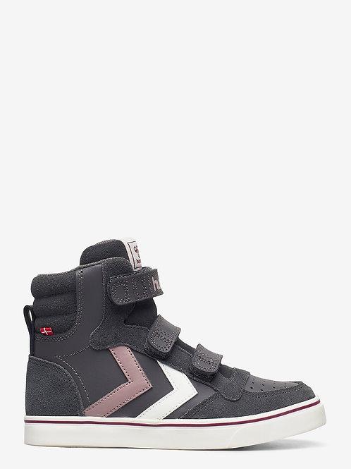 Hummel High Top  Grey pink shoes boots