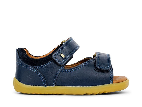 Bobux Step Up Driftwood Navy shoes sandals velcro