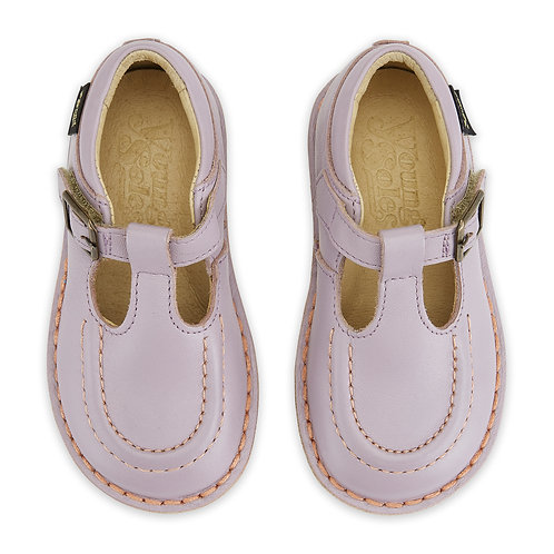 Young Soles Parker Lilac Leather tbar retro mary jane kids shoes