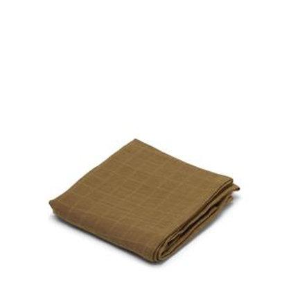 Konges Slojd Muslin Cloth / Swaddle - Dark Honey