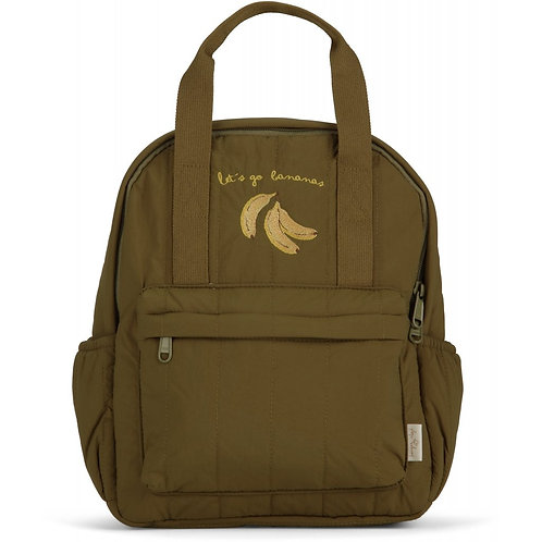 Konges Slojd Loma Kids Backpack Mini Lets Go Bananas (Breen)